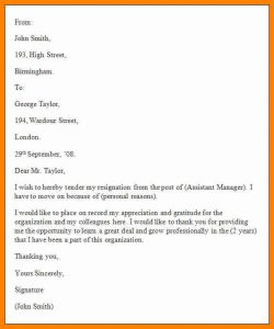free resignation letter free resignation letter templates formal resignation letter template
