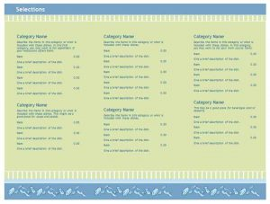 free restaurant menu templates for word free restaurant menu templates