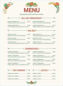 free restaurant menu templates for word resturant menu image
