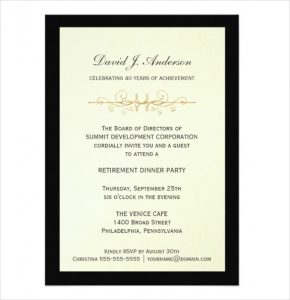 free retirement party invitation templates for word corporate retirement party invitations