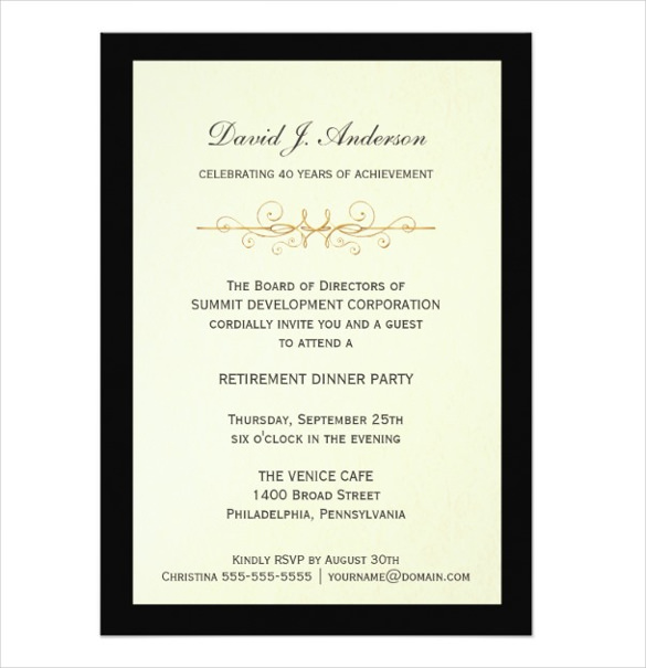 Free retirement party invitation templates for word for Retirement invitation template free