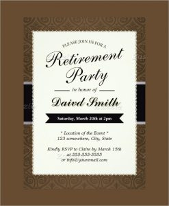 free retirement party invitation templates for word retirement party invitation template