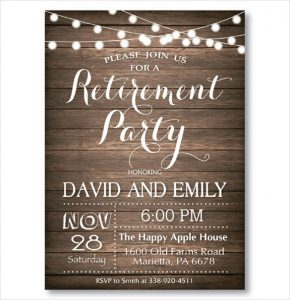 free retirement party invitation templates for word rustic retirement party invitation