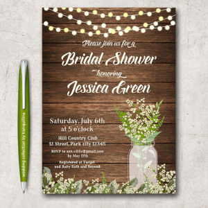 free rustic wedding invitation templates rustic bridal shower invitation