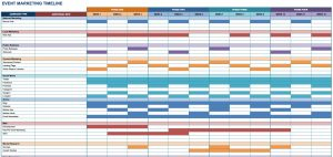 free schedule template free marketing timeline tips and templates smartsheet sample