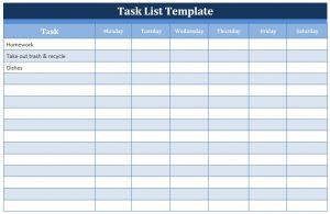 free schedule template task list template