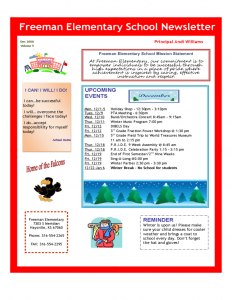 free school newsletter templates elementary school newsletter l