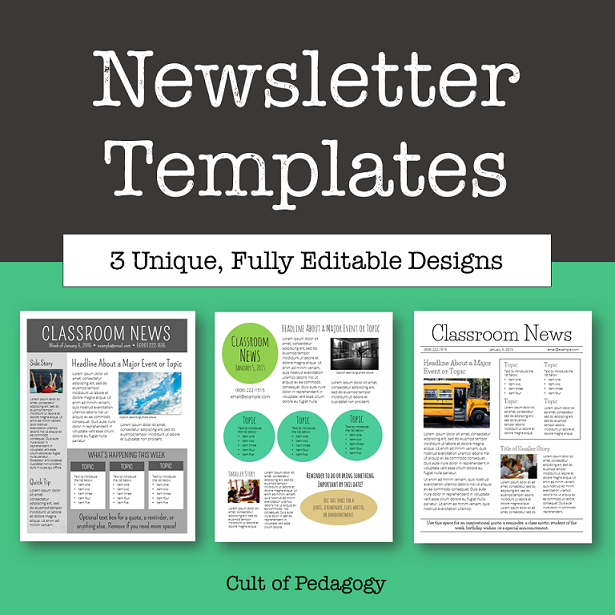 Free School Newsletter Templates Template Business