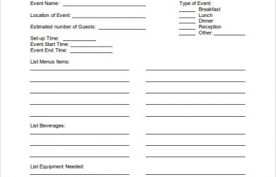 free seating chart template banquet event order form template