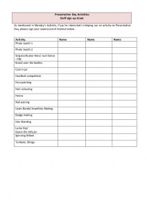 free sign in sheet template carnival expression of interest sheet staff