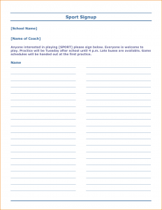 free sign up sheet free sign up sheet template