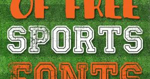 free sports fonts free sports fonts