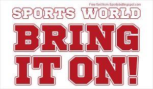 free sports fonts sports world font