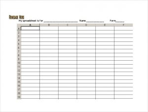 free spreadsheet template blank spreadsheet pdf template free download