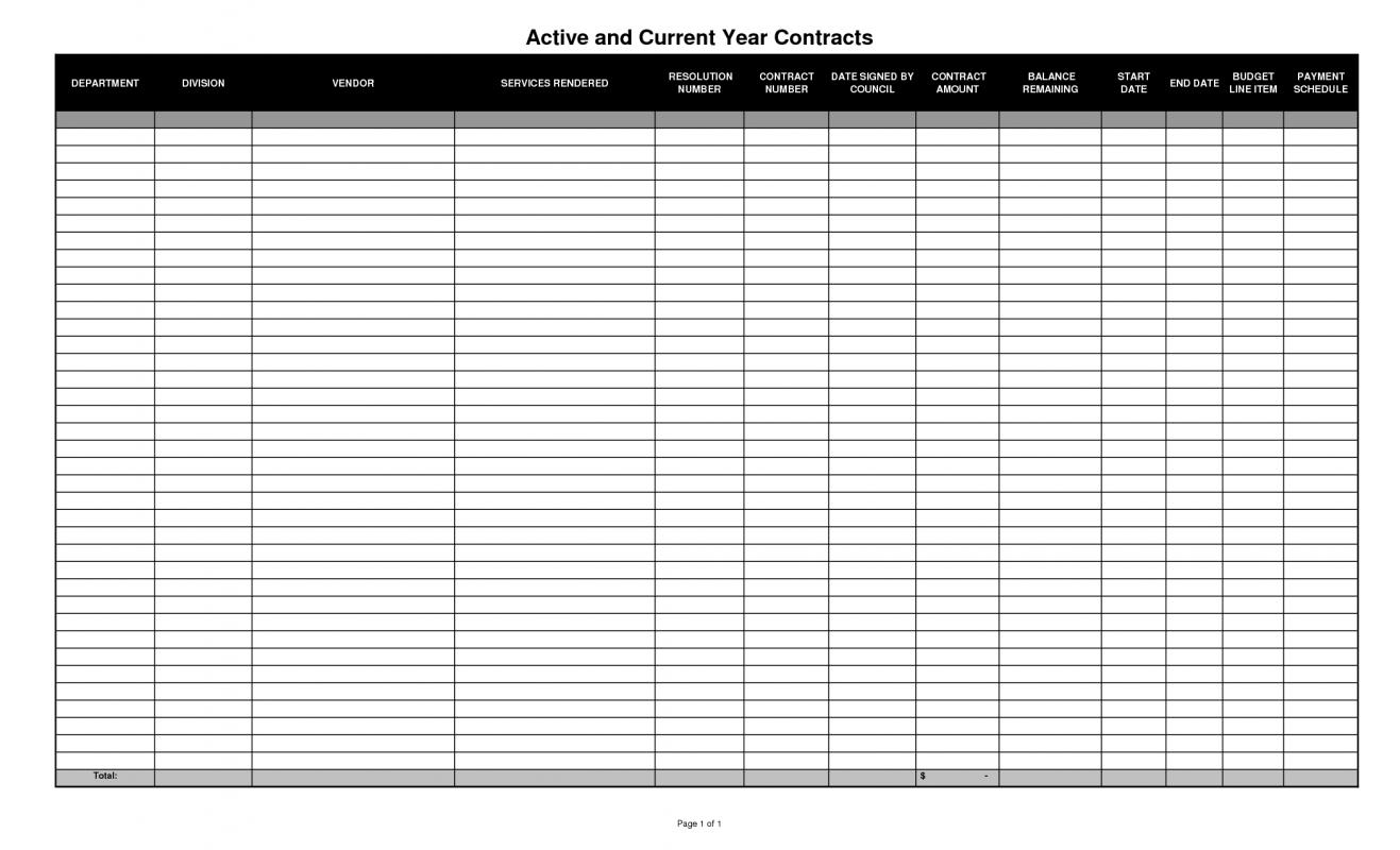 free spreadsheet template