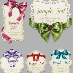 free tag templates vintage labels ribbons bows