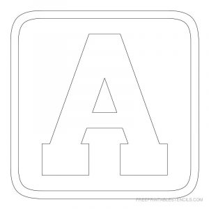 block letter templates free