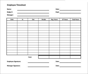 free timesheet template free timesheet calculator template