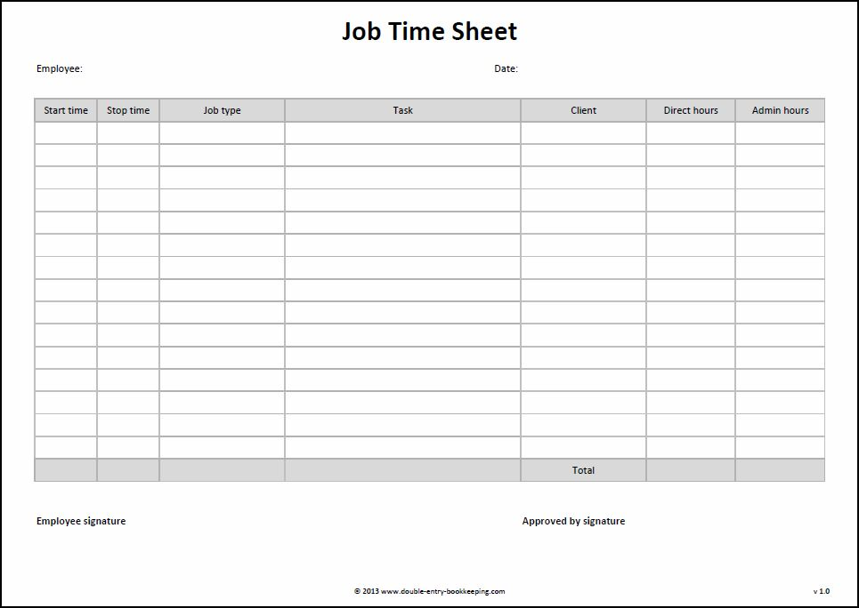 free timesheet template