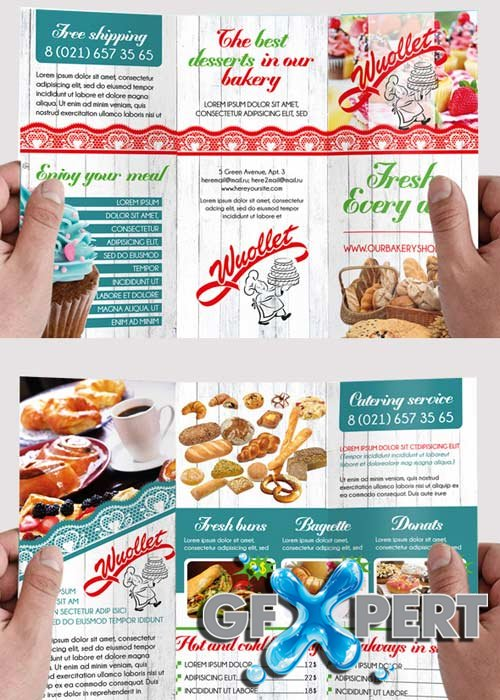 Free Tri Fold Brochure Template Template Business - Bakery brochure template free