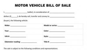 free vehicle bill of sale motor vehicle bill of sale form thumb