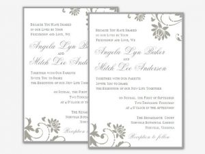 free wedding invitation templates for word free wedding invitation templates for word