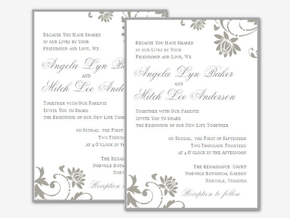 free wedding invitation templates for word