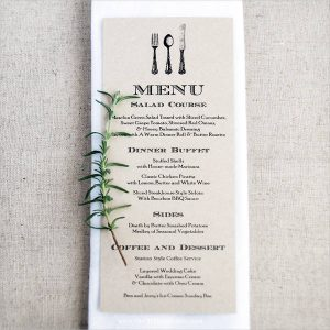 free wedding menu templates diy wedding menu card