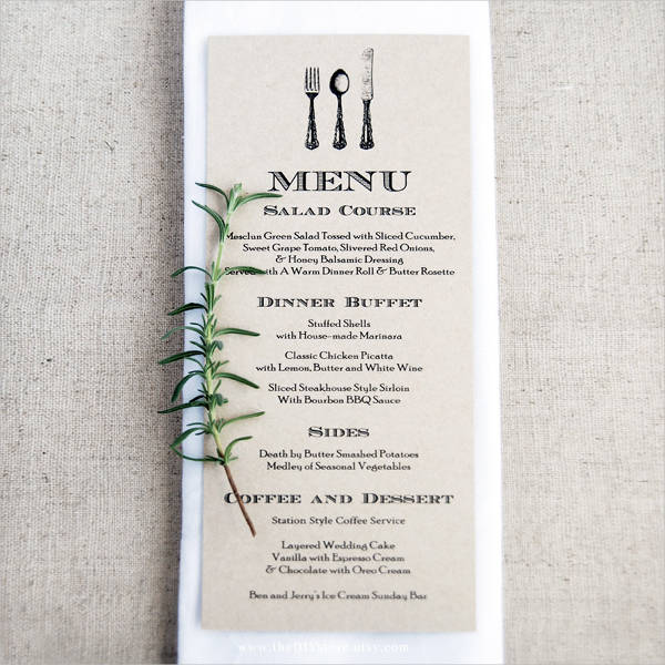 wedding menu card template - zrom.tk