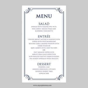 free wedding menu templates il xn ioqn