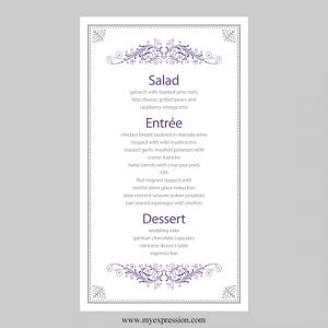 free wedding menu templates il xn llkq