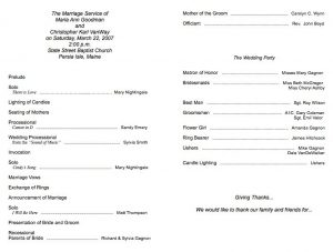 free wedding program fan templates simple wedding program