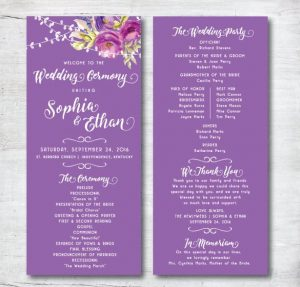 free wedding program template attractive wedding program template download