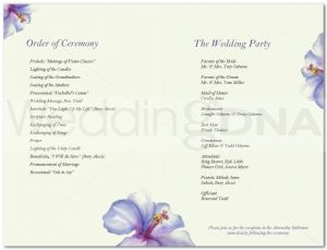 free wedding program template page