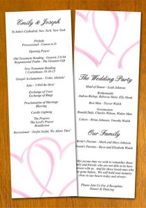 free wedding program template wedding program template