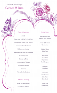 free wedding program template wedding programs templates ahcnitm
