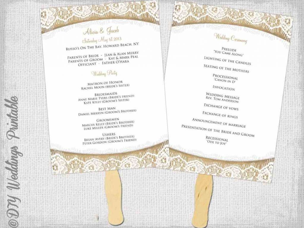 Free wedding program template word template business for Wedding ceremony order of service template free