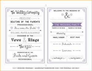 free wedding program template word free wedding program templates lavender diy wedding program ahandcraftedwedding