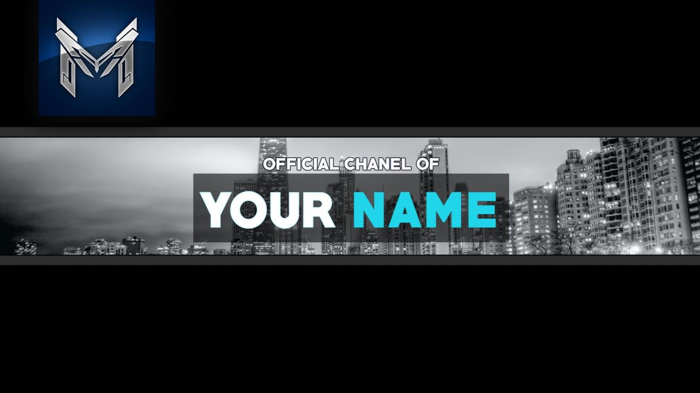cool 3d youtube banner template fezodesigns free download
