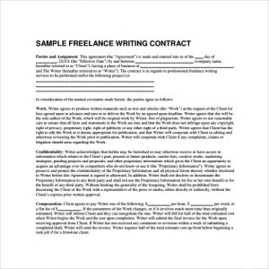 freelance contract template simple freelance contract template