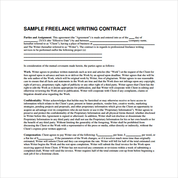 Freelance Contract Template  Template Business