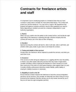 freelance graphic design contract template pdf freelance artist
