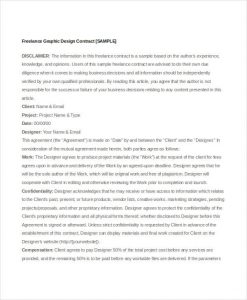 freelance graphic design contract template pdf graphic design freelance contract template