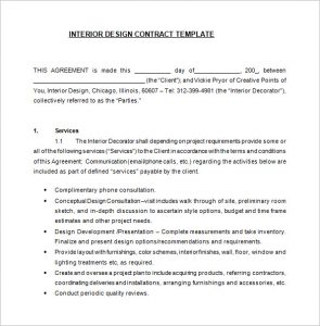 freelance graphic design contract template pdf interior designer contract template free download