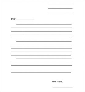 friendly letter greetings friendly letter format sample