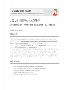 front end developer resume front end developer resume