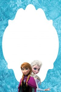 frozen bday invites frozen blank note card