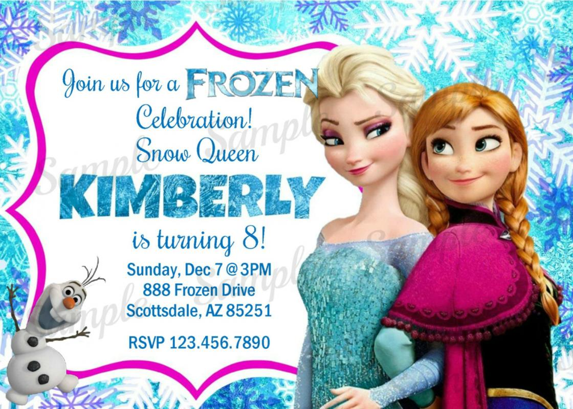 frozen bday invites