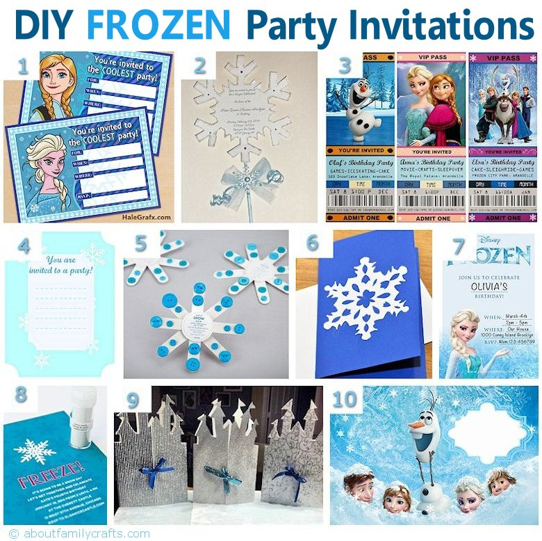 frozen bday party invitations
