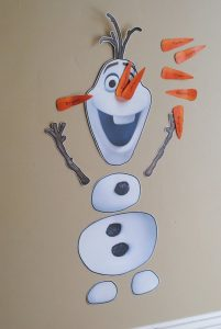 frozen bday party invitations pin the nose on olaf